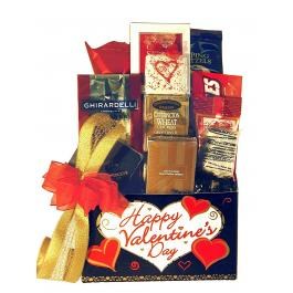Happy Valentines Day Basket Gourmet Baskets And Gifts