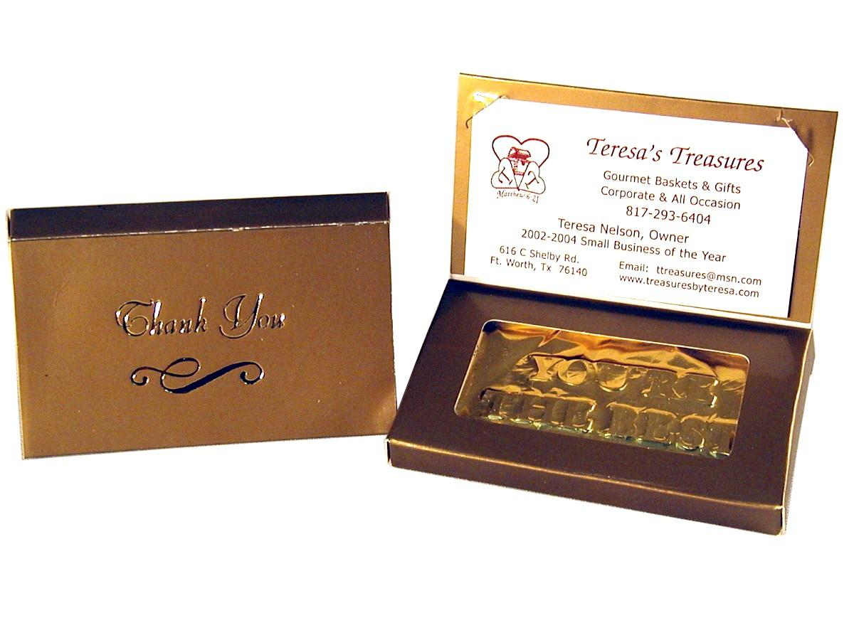 Special Order) Business Card Thank You Chocolate Bar - Favors ...